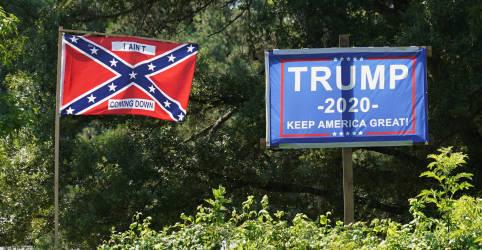 Placeholder - loading - Imagem da notícia Pentágono impõe proibição de fato a bandeiras dos confederados em bases militares dos EUA