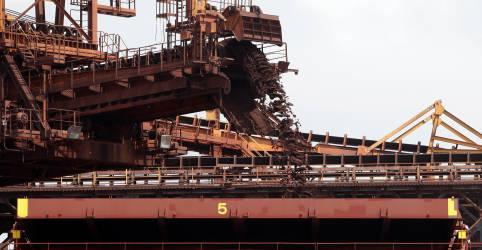 Placeholder - loading - Exportação de minério de ferro do Brasil pode ter melhor mês em quase 2 anos
