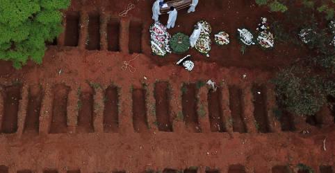 Placeholder - loading - Brasil registra 614 novas mortes por Covid-19 e atinge total de 87.618 óbitos