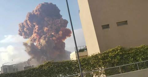 Placeholder - loading - Forte explosão em Beirute deixa ao menos 10 mortos e provoca abalos pela cidade