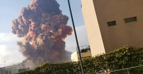 Placeholder - loading - Imagem da notícia Explosão gigantesca em Beirute deixa mais de 70 mortos e milhares de feridos