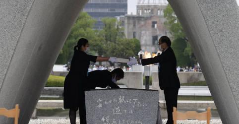 Placeholder - loading - Imagem da notícia Hiroshima marca 75 anos da bomba atômica em cerimônia reduzida