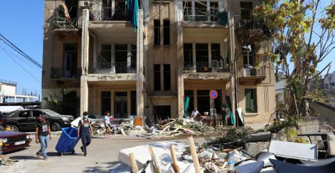Placeholder - loading - Mortes por explosão em Beirute sobem para 154, diz agência estatal