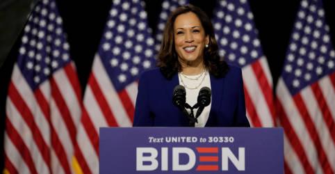 Placeholder - loading - Imagem da notícia Kamala Harris estreia ao lado de Biden na campanha e criticaTrump por resposta ao coronavírus