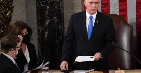 Placeholder - loading - Imagem da notícia Pence saúda esforços de parlamentares dos EUA em contestar votos do Colégio Eleitoral