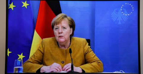 Placeholder - loading - Imagem da notícia Merkel prevê lockdown para conter coronavírus até início de abril, diz Bild