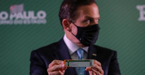 Placeholder - loading - Doria diz que Pazuello mente e promete envio de 50 mil doses de vacinas ao Amazonas