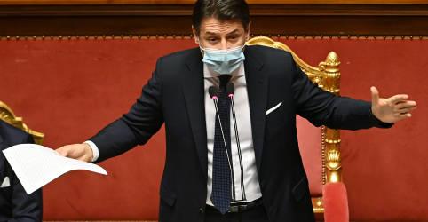Placeholder - loading - Imagem da notícia Premiê italiano mira permanência no poder em votação crucial no Senado