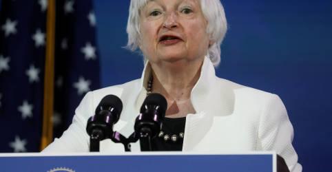 Placeholder - loading - Yellen diz que mercados devem determinar valor do dólar