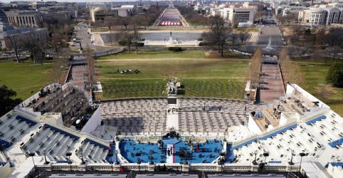Placeholder - loading - Imagem da notícia Posse em Washington normalmente é uma festa, desta vez é uma cidade fantasma com soldados