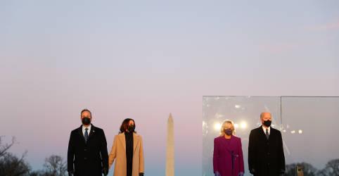 Placeholder - loading - Imagem da notícia Biden lidera homenagem a 400.000 mortos por Covid-19 nos EUA
