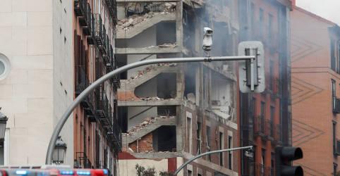 Placeholder - loading - Imagem da notícia Explosão destrói prédio na região central de Madri