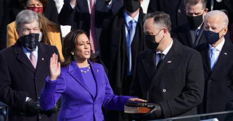 Placeholder - loading - Imagem da notícia Rompendo barreiras, Kamala Harris tome posse como nova vice-presidente dos EUA