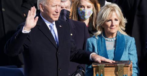 Placeholder - loading - Imagem da notícia Biden pede fim de 'guerra incivil' ao tomar posse como presidente dos EUA
