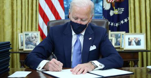 Placeholder - loading - Imagem da notícia Biden assina decretos sobre clima, imigração e energia em primeiro dia no cargo