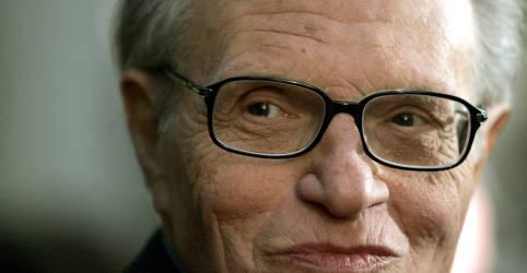 Placeholder - loading - Imagem da notícia Larry King, famoso por décadas de entrevistas na TV dos EUA, more aos 87 anos