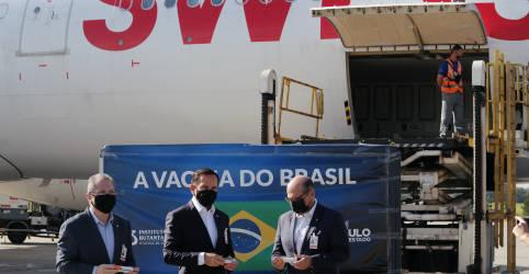 Placeholder - loading - Lote de 5,4 mil litros de insumos da CoronaVac deve chegar ao Brasil em 3 de fevereiro