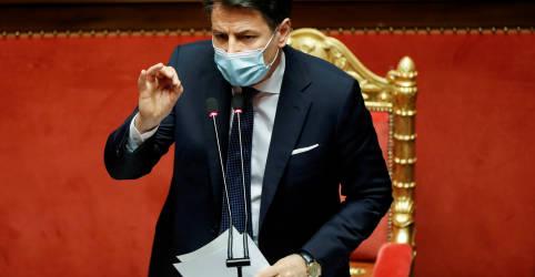 Placeholder - loading - Conte usa renúncia como premiê da Itália como tática para obter nova maioria