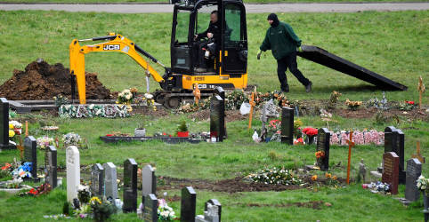 Placeholder - loading - Imagem da notícia Reino Unido supera 100 mil mortes de Covid e prevê muitas mais