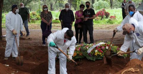 Placeholder - loading - Imagem da notícia Brasil registra 1.119 novas mortes por Covid-19 e total vai a 222.666