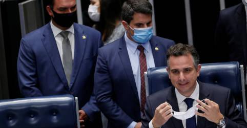 Placeholder - loading - Imagem da notícia Eleito, Pacheco promete esforço do Senado por pautas do Executivo, mas exige independência