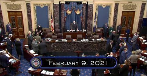 Placeholder - loading - Senado dos EUA vota para prosseguir com julgamento de Trump após exibição de vídeo de ataque ao Capitólio