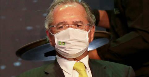 Placeholder - loading - Imagem da notícia Guedes condiciona reedição de auxílio emergencial a PEC de Guerra, cita valor de R$250