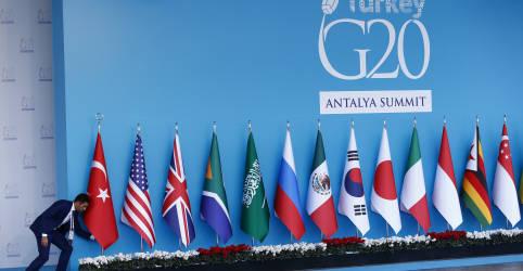 Placeholder - loading - G20 promete evitar fim prematuro para estímulo fiscal e monetário