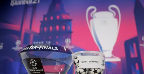 Placeholder - loading - Imagem da notícia Quartas de final da Liga dos Campeões terá Bayern x PSG e Real Madrid x Liverpool
