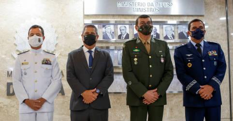Placeholder - loading - Forças Armadas se mantêm fiéis à sua missão constitucional e preservarão democracia, diz Braga Netto