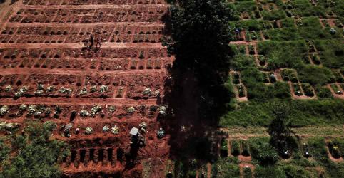 Placeholder - loading - Imagem da notícia Brasil registra 1.480 novas mortes por Covid e total atinge 354.617