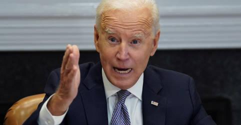 Placeholder - loading - Imagem da notícia Em telefonema, Biden manifesta a Putin preocupação com mobilização de tropas russas