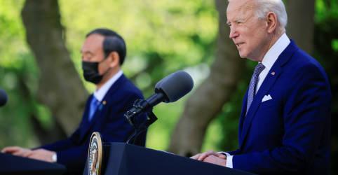 Placeholder - loading - Imagem da notícia Biden busca unidade com premiê japonês contra assertividade da China