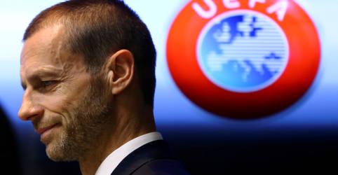 Placeholder - loading - Imagem da notícia Presidente da Uefa afirma que clubes dissidentes serão banidos 'o mais rápido possível'