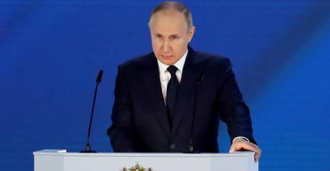 Placeholder - loading - Imagem da notícia Putin alerta sobre resposta severa se Ocidente ultrapassar limites da Rússia