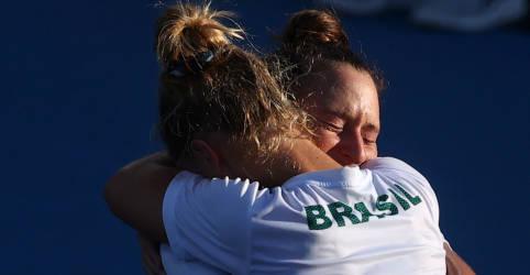 Placeholder - loading - Laura Pigossi e Luisa Stefani ficam com bronze e garantem primeira medalha olímpica do Brasil no tênis