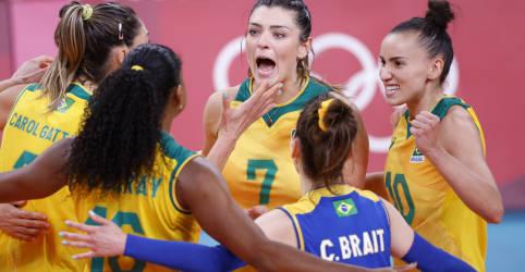 Placeholder - loading - Brasil vence Rússia por 3 sets a 1 e vai à semi no vôlei feminino em Tóquio