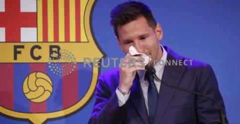Placeholder - loading - Messi se despede do Barcelona entre lágrimas e diz que negocia com o PSG
