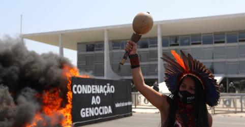 Placeholder - loading - Imagem da notícia STF retoma julgamento do marco temporal das terras indígenas