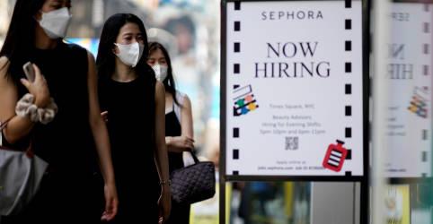 Placeholder - loading - Criação de vagas de trabalho nos EUA desacelera com força em agosto; taxa de desemprego cai para 5,2%