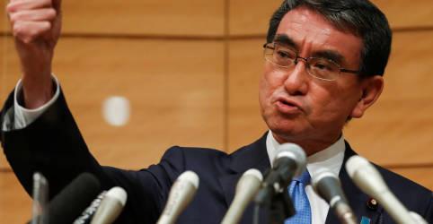 Placeholder - loading - Ministro japonês responsável por vacinação entra em disputa por liderança partidária