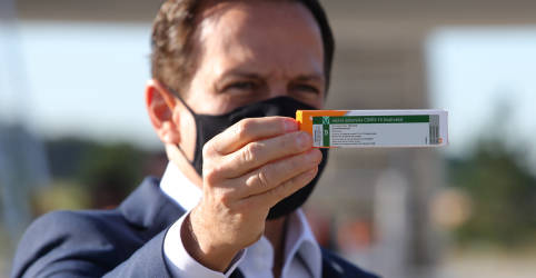 Placeholder - loading - Imagem da notícia Butantan recebe na quinta-feira insumos para 14 milhões de doses da CoronaVac, diz Doria