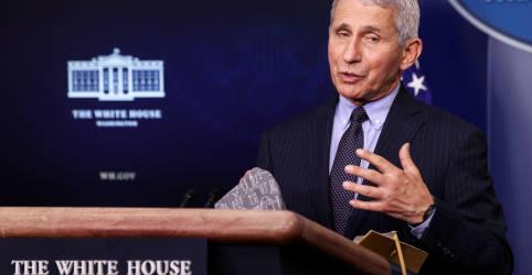 Placeholder - loading - Imagem da notícia Fauci diz que EUA devem se ater a estratégia de duas doses de vacinas da Pfizer e da Moderna