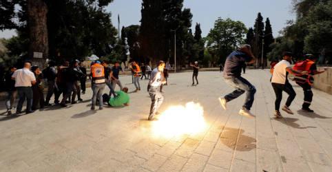 Placeholder - loading - Palestinos e polícia israelense entram em confronto em Jerusalém horas após trégua em Gaza