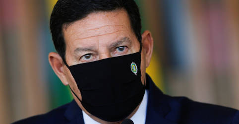 Placeholder - loading - Mourão lamenta 'profundamente' ausência de Salles em reunião do Conselho da Amazônia