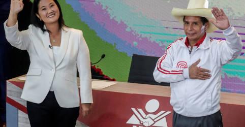Placeholder - loading - Empatados nas pesquisas, Fujimori e Castillo se enfrentam em debate presidencial no Peru