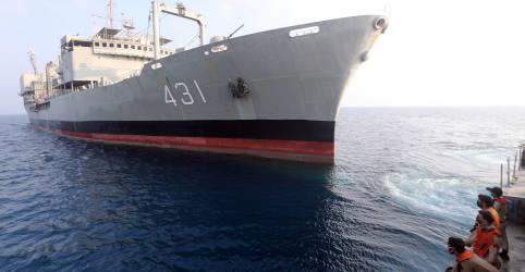 Placeholder - loading - Maior navio da Marinha do Irã afunda após incêndio no Golfo de Omã