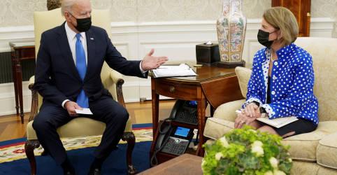 Placeholder - loading - Biden se reencontrará com negociadora republicana para tentar salvar acordo de infraestrutura