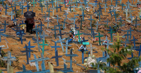 Placeholder - loading - Imagem da notícia Brasil registra 1.454 novas mortes por Covid-19 e total supera 470 mil