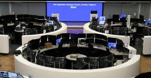 Placeholder - loading - Imagem da notícia Ações europeias recuam com temores sobre aperto monetário